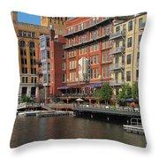 Milwaukee River Architecture 4 Throw Pillow