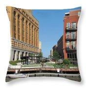 Milwaukee River Architecture 5 Throw Pillow
