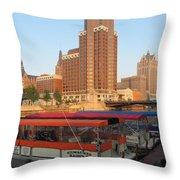 Milwaukee River Theater District 5 Throw Pillow