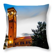 Milwaukee Station Throw Pillow