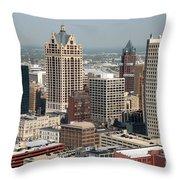 Milwaukee Wisconsin Skyline Aerial Throw Pillow