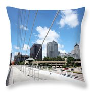 Milwaukee Wisconsin Skyline Throw Pillow