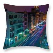 Milwaukee's Evening Active Glow Throw Pillow