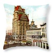 Milwaukee's Wisconsin Street 1899 Throw Pillow