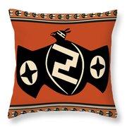 Mimbres Tribal Bat Spirit Throw Pillow