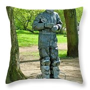 Mime In A Park In Tallinn-estonia Throw Pillow