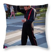 Mime Performer On The Street Throw Pillow