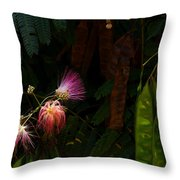 Mimosa And Peppervine Throw Pillow