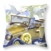 Mimosa Tree With Model A Throw Pillow