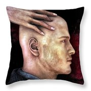 Mind Control Throw Pillow by Bob Orsillo