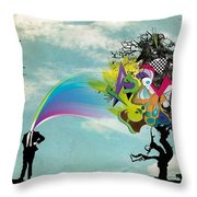 Mind Outburst Throw Pillow