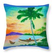 Mindanao Sunset Throw Pillow