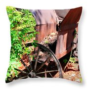 Mine Cart Lost In Time V2 Throw Pillow