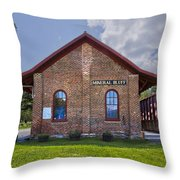 Mineral Bluff Station Throw Pillow by Debra and Dave Vanderlaan