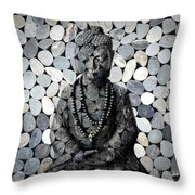 Mineral Buddha Throw Pillow
