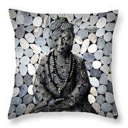 Mineral Buddha Throw Pillow