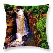 Miner's Falls Throw Pillow