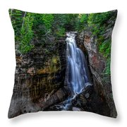 Miners Falls I Throw Pillow