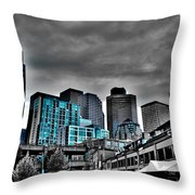 Miner's Landing On Pier 57 - Seattle Washington Throw Pillow