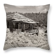 Miner's Shack - Comet Ghost Mine - Montana Throw Pillow