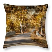 Mingling With Beauty Throw Pillow