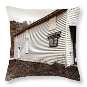 Mingo Post Office And Foxhill Farms General Store Throw Pillow