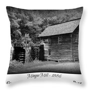 Mingus Mill -- Black And White Poster Throw Pillow