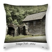 Mingus Mill - Color Poster Throw Pillow