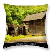 Mingus Mill -- Poster Throw Pillow