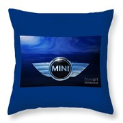 Mini Blue Throw Pillow