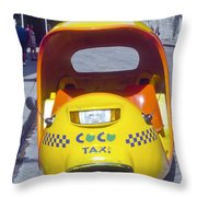 Mini-cab Throw Pillow