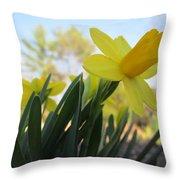 Mini Daffodils Throw Pillow
