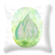 Mini Forest With Birds In Flight - Illustration Throw Pillow