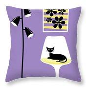 Mini Groovy Flowers 3 Throw Pillow