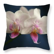 Mini Orchids 2 Throw Pillow