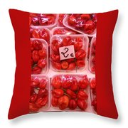 Mini Red Peppers Throw Pillow