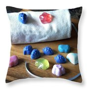Mini Soaps Collection Throw Pillow