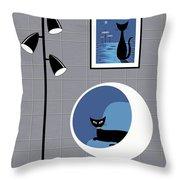 Mini Space Cat Throw Pillow