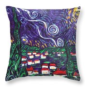 Mini Starry Night Throw Pillow
