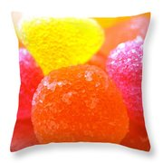 Mini Sugar Fruits Throw Pillow