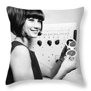 Miniature Computer Components Throw Pillow