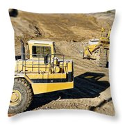 Miniature Construction Site Throw Pillow