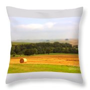 Miniature Countryside Throw Pillow