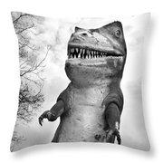 Miniature Golf Dinosaur Throw Pillow