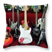 Miniature Guitars Szentendre Hungary Throw Pillow