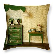 Miniature Hat Room Throw Pillow