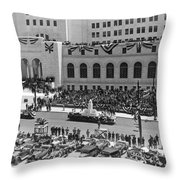 Miniature La City Hall Parade Throw Pillow