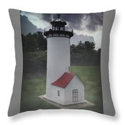 Miniature Lighthouse Throw Pillow