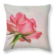 Miniature Rose II Throw Pillow