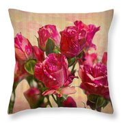 Miniature Roses Throw Pillow